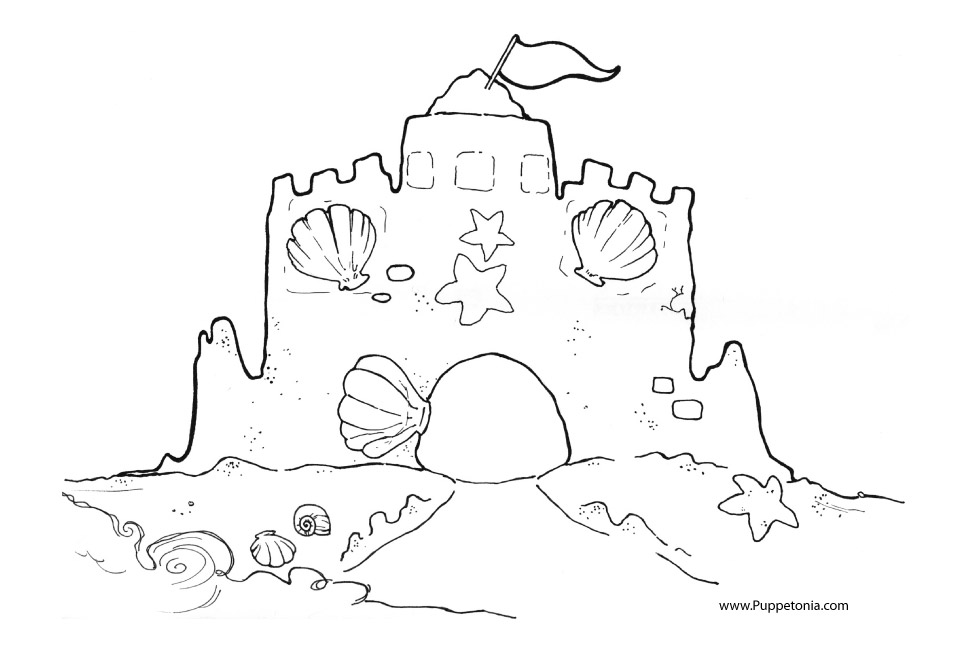 Coloring Pages 171 Puppetonia Sandcastle Coloring Page